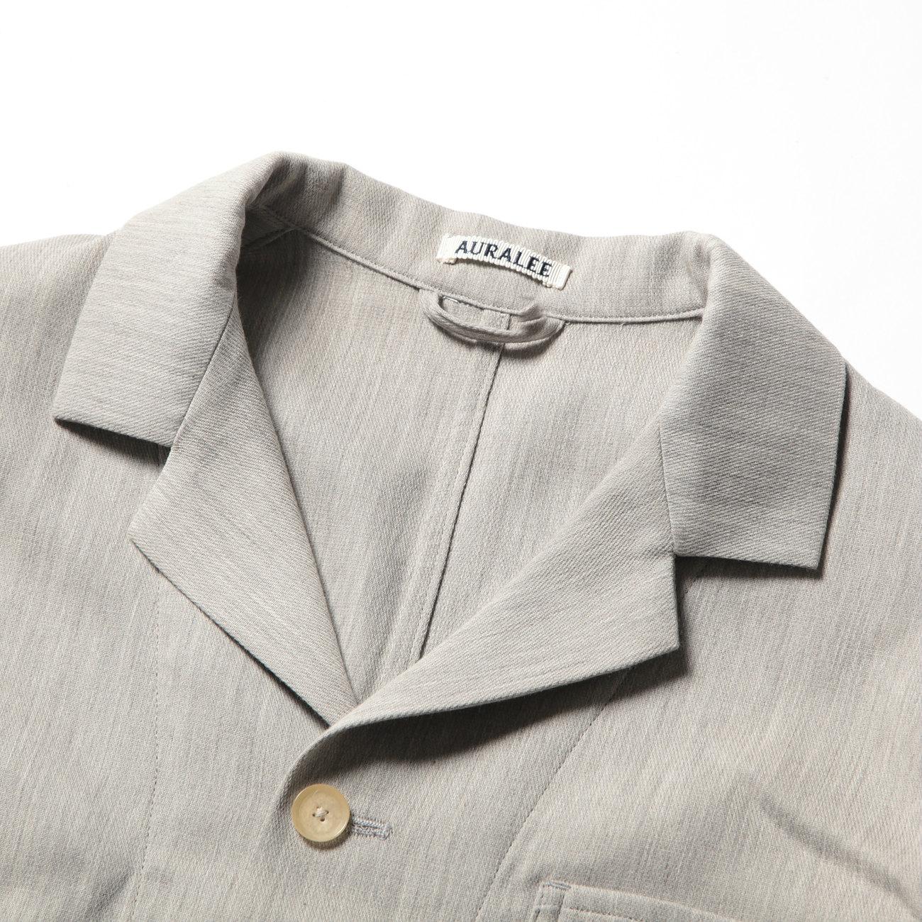 AURALEE オーラリー COTTON WOOL DOUBLE CLOTH BLOUZON - Yaku Top Gray
