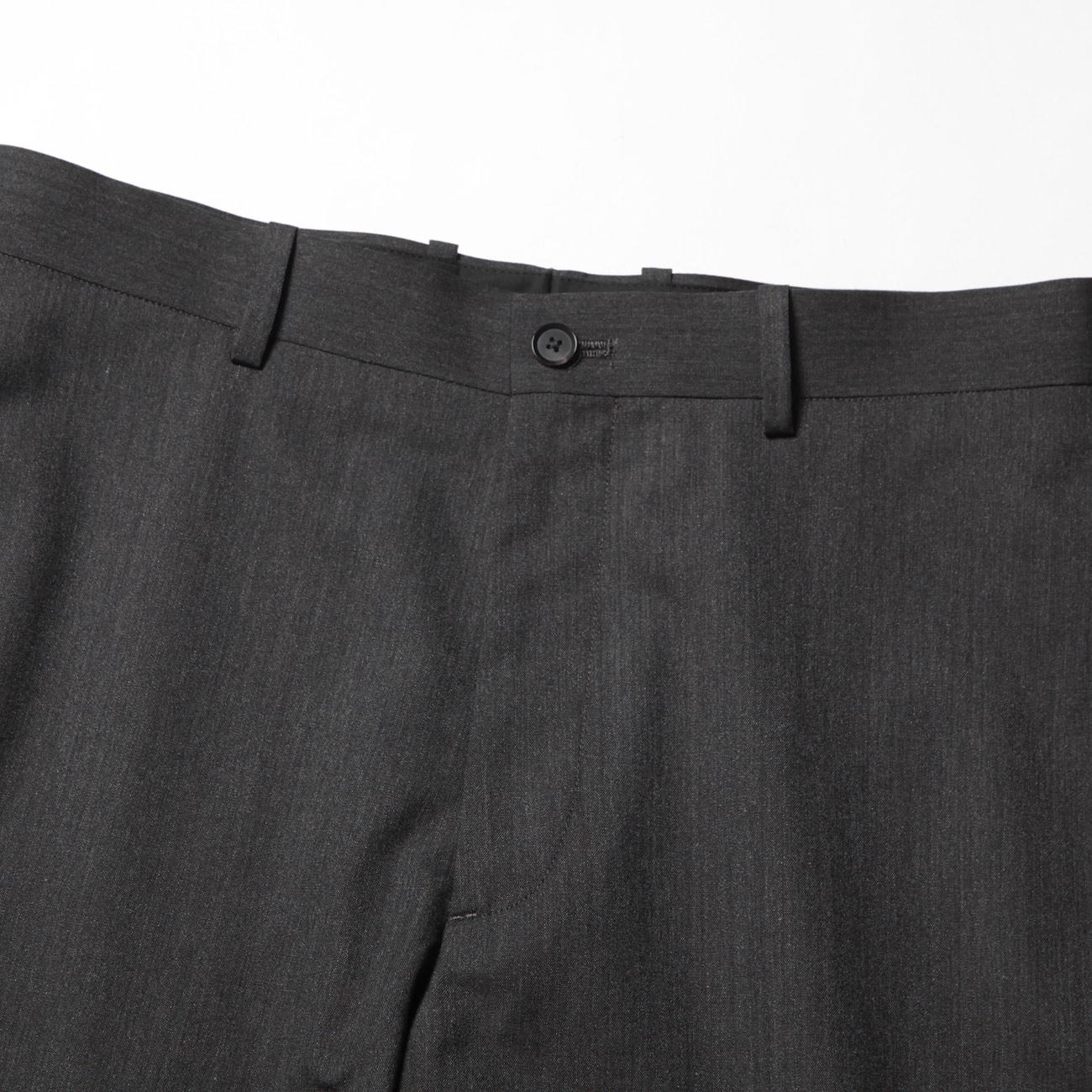 AURALEE オーラリー WOOL SILK TROPICAL SLACKS - Charcoal Black