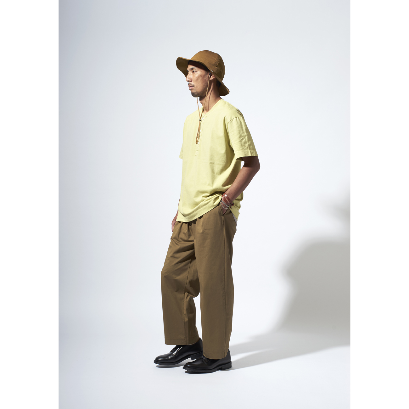 CURLY HELICAL S/S HENLEY TEE Tシャツ