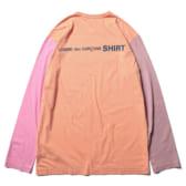 COMME-des-GARÇONS-SHIRT-cotton-jersey-plain-with-CDG-SHIRT-logo-back-Orange-Mix-168x168