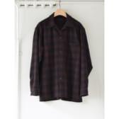 COMOLI-ウールチェック-オープンカラーシャツ-Brown-168x168