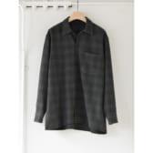 COMOLI-ウールチェック-オープンカラーシャツ-Green-168x168