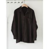 COMOLI-縮絨-ウールオープンカラーシャツ-Navy-168x168