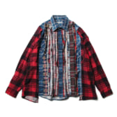 Rebuild-by-Needles-Flannel-Shirt-Ribbon-Shirt-Wide-Fサイズ_1-168x168