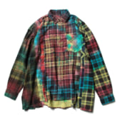 Rebuild-by-Needles-Flannel-Shirt-7-Cuts-Shirt-Tie-Dye-Wide-Fサイズ_1-168x168