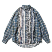 Rebuild-by-Needles-Flannel-Shirt-Ribbon-Shirt-Sサイズ-168x168