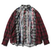 Rebuild-by-Needles-Flannel-Shirt-Ribbon-Shirt-Wide-Fサイズ-168x168