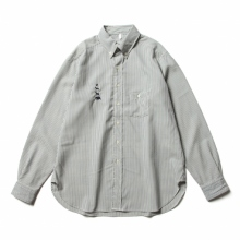 ....... RESEARCH   Animal Shirt / メリノウール - 動物刺繍 - Stripe
