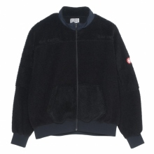 C.E / シーイー | PANEL FLEECE ZIP UP - Black