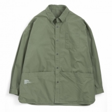 FreshService / フレッシュサービス | Tool Pocket Regular Collar Utility Shirt - Khaki