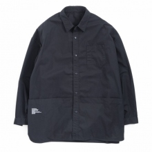 FreshService / フレッシュサービス | Tool Pocket Regular Collar Utility Shirt - Black