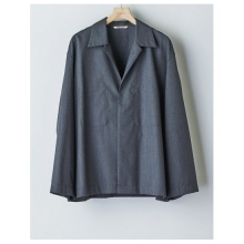 AURALEE / オーラリー | WOOL SILK TROPICAL SHIRTS JACKET - Top Charcoal