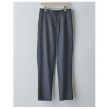 AURALEE / オーラリー | WOOL SILK TROPICAL SLIT SLACKS - Top Charcoal