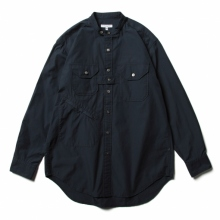 ENGINEERED GARMENTS / エンジニアドガーメンツ | Banded Collar Shirt - 100s 2Ply Broadcloth - Dk.Navy