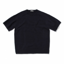 UNIVERSAL PRODUCTS / ユニバーサルプロダクツ | OVERSIZE SHORT SLEEVE KNIT - Navy
