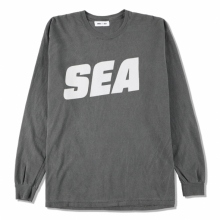 WIND AND SEA / ウィンダンシー | SEA (sea-alive) L/S T-SHIRT - Charcoal