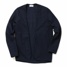 FLISTFIA / フリストフィア | Indigo Piping Cardigan - Dark Blue Indigo