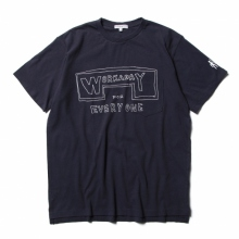 ENGINEERED GARMENTS / エンジニアドガーメンツ | Printed Crossover Neck PocketTee - Workaday for Everyday - Navy