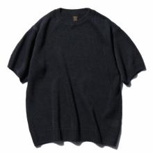 BATONER / バトナー | ガンジークルーネック半袖プルオーバー (メンズ) - Black