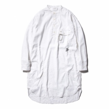 and wander / アンドワンダー | dry linen tunic (M) - White