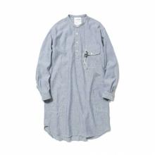 and wander / アンドワンダー | dry linen tunic (M) - Blue