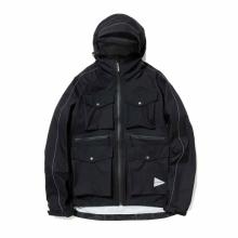 and wander / アンドワンダー | 3L rip stop jacket - Black
