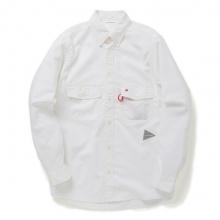 and wander / アンドワンダー | dry ox shirt (M) - White