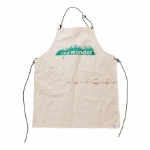 and wander / アンドワンダー | printed canvas apron - Off White