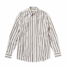 N.HOOLYWOOD / エヌハリウッド | 1201-SH06-042-pieces RANDOM TACKED SHIRT - Pink Stripe
