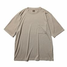 BATONER / バトナー | WASHABLE WOOL POCKET T-SHIRT (メンズ) - Grege