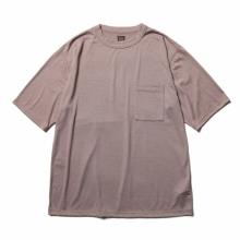 BATONER / バトナー | WASHABLE WOOL POCKET T-SHIRT (メンズ) - Pink Brown