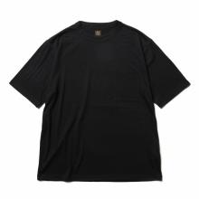BATONER / バトナー | WASHABLE WOOL POCKET T-SHIRT (メンズ) - Navy