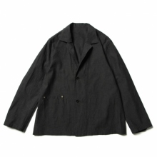 URU / ウル | COTTON CHAMBRAY / 2 BUTTON SHIRTS JACKET - F.Black