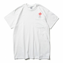 AiE / エーアイイー | Printed S/S Pocket Tee - Cross - White