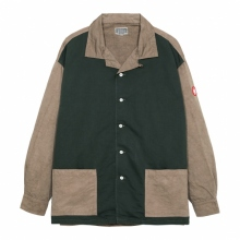 C.E / シーイー   OVERDYE OPEN COLLAR SHIRT - Brown
