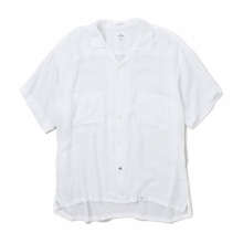 BEDWIN / ベドウィン | S/S OPEN COLLAR SHIRT OW 「ROGERS」 - White