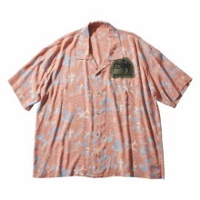 Porter Classic / ポータークラシック   ALOHA SHIRT COLORFUL HAWAII - Sunset Orange