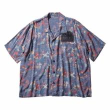 Porter Classic / ポータークラシック   ALOHA SHIRT COLORFUL HAWAII - Squall Gray