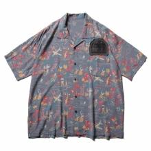 Porter Classic / ポータークラシック | ALOHA SHIRT COLORFUL HAWAII - Squall Gray