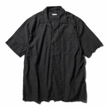 COMOLI / コモリ | ベタシャン オープンカラーシャツ - Charcoal