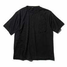 COMOLI / コモリ | コットンシルク裏毛 半袖クルー - Black