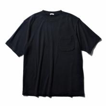 COMOLI / コモリ | コットンシルク裏毛 半袖クルー - Navy