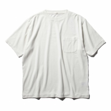COMOLI / コモリ | コットンシルク裏毛 半袖クルー - White