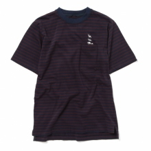 ....... RESEARCH | Border Tee - Navy × Brown