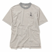 ....... RESEARCH | Border Tee - Off White × Gray