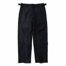 ENGINEERED GARMENTS / エンジニアドガーメンツ | EG Workaday Fatigue Pant - Cotton Reversed Sateen - Black