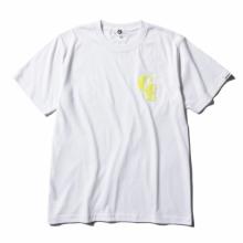 GOODENOUGH / グッドイナフ | S/S TEE - FELT WAPPEN - White / Neon Yellow