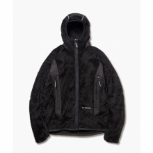 and wander / アンドワンダー | high loft fleece hoodie - Black