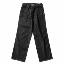 AURALEE / オーラリー | HARD TWIST DENIM WIDE SLACKS - Black × Top Gray
