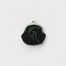 Hender Scheme / エンダースキーマ | velvet quilt snap pouch - Black / Green